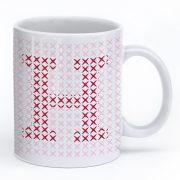 Cross Stitch Mug – Red H