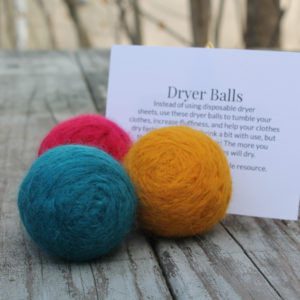 Dryer Ball Gift Set with directions